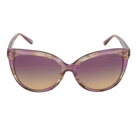 Michael Kors Jan 2045 Purple Gold Sunglasses